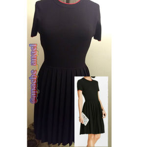 Brooks Brothers Black Sweater Pleated Dress 10/14